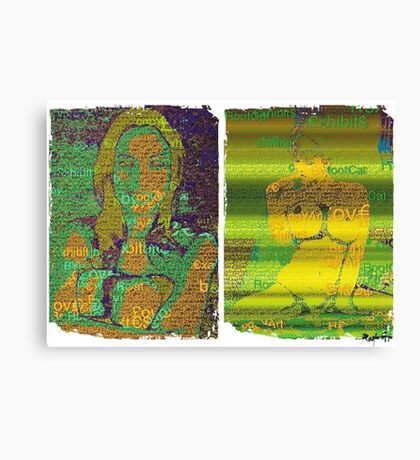 Incarnata Diptych #23 Canvas Print