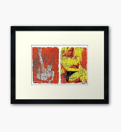 Incarnata Diptych #17 Framed Print