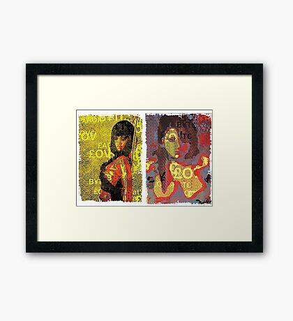 Incarnata Diptych #16 Framed Print
