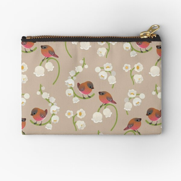 Brown capped rosy finch Zipper Pouch