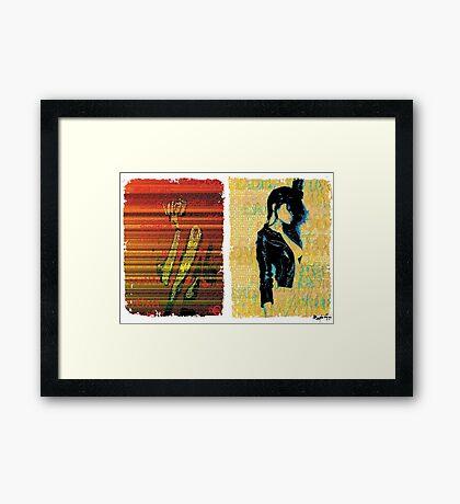 Incarnata Diptych #11 Framed Print