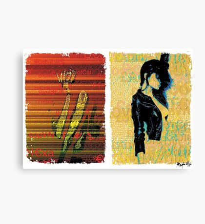 Incarnata Diptych #11 Canvas Print