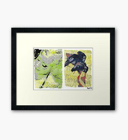 Incarnata Diptych #8 Framed Print