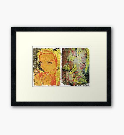 Incarnata Diptych #7 Framed Print
