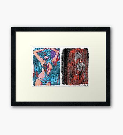 Incarnata Diptych #6 Framed Print