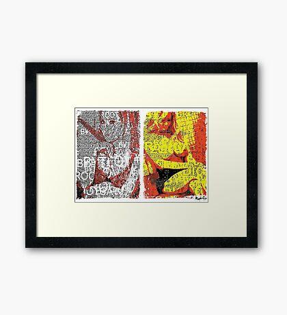 Incarnata Diptych #5 Framed Print