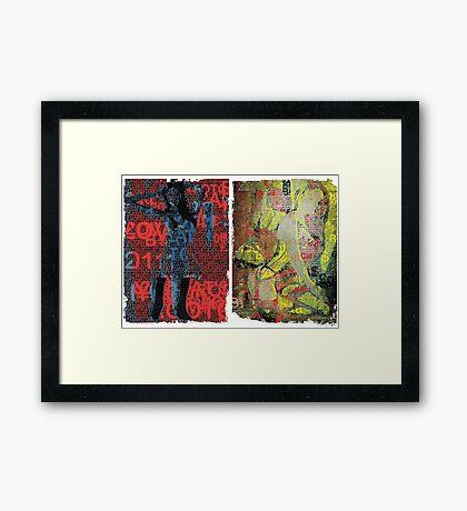 Incarnata Diptych #4 Framed Print