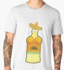 Tequila Anejo - Wine in Mexican hat - Tequila Day Men's Premium T-Shirt
