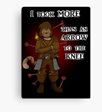 More than an arrow to the knee Canvas Print