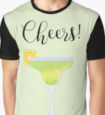Glass of Tequila with lime - Tequila Day Graphic T-Shirt
