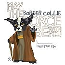 Border Collie Force - Black and White by DoggyGraphics