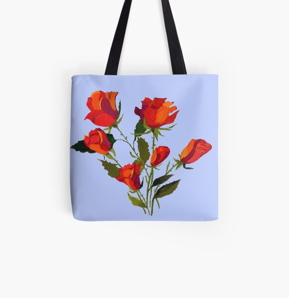 Red roses All Over Print Tote Bag