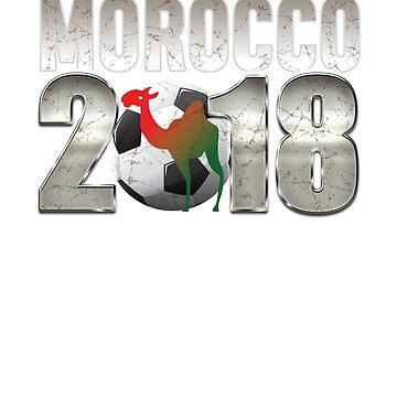 Morocco Soccer Football 2018 World Championship Cup Men Women Futbol by philsgiftshop