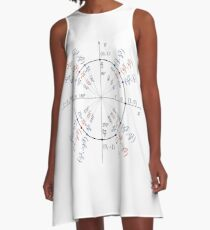 Trigonometry: angles in degrees, angles in radians, cosines of angles, sines of angles A-Line Dress