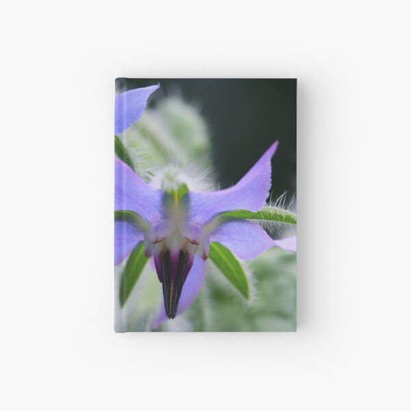 Borage Flowers Hardcover Journal
