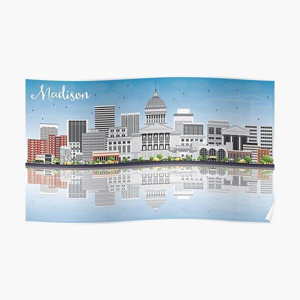 Madison - Grey Skyline Poster