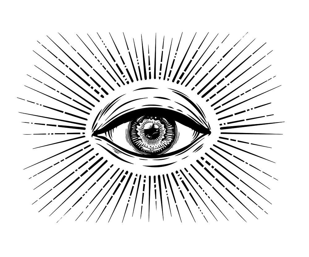 All Seeing Eye Symbol Vision Of Providence By Katjagerasimova