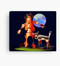 Walking with Robots Canvas Print