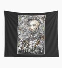"Title: ""Rendering Myself Worthy"" Abe Lincoln, Slavery, Civil War Meta Collage Wall Tapestry"