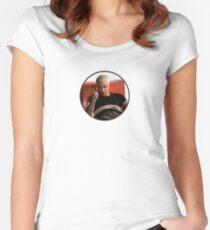 Spike V sign Women's Fitted Scoop T-Shirt