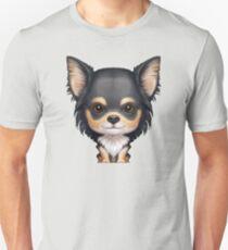 Black & Tan Long-Haired Chihuahua Unisex T-Shirt