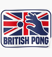 BRITISH PONG Poster