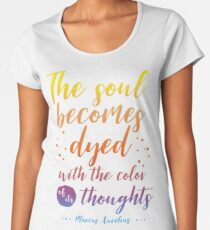 Marcus Aurelius Stoicism Quote - Color of thoughts Women's Premium T-Shirt