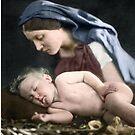 Mary and baby Jesus Christ by Fernando Ribeiro  Colorization