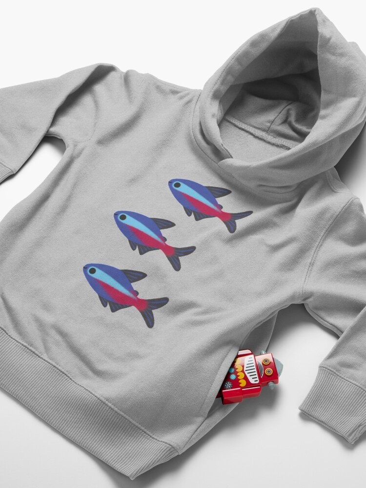 Alternate view of Cardinal tetra Toddler Pullover Hoodie