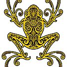 Komplizierter gelber Baum-Frosch von jeff bartels