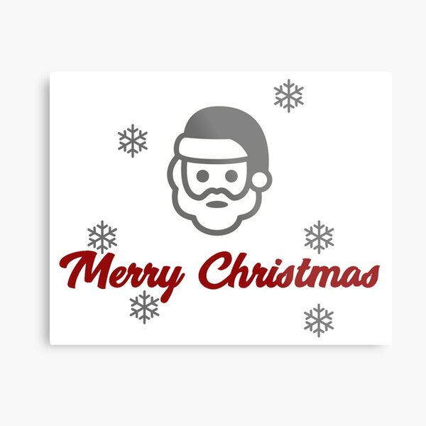 Merry Christmas Stickers - Christmas Wishes Metal Print