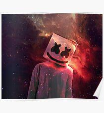 Marshmello Red Galaxy Poster