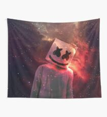 Marshmello Red Galaxy Wall Tapestry