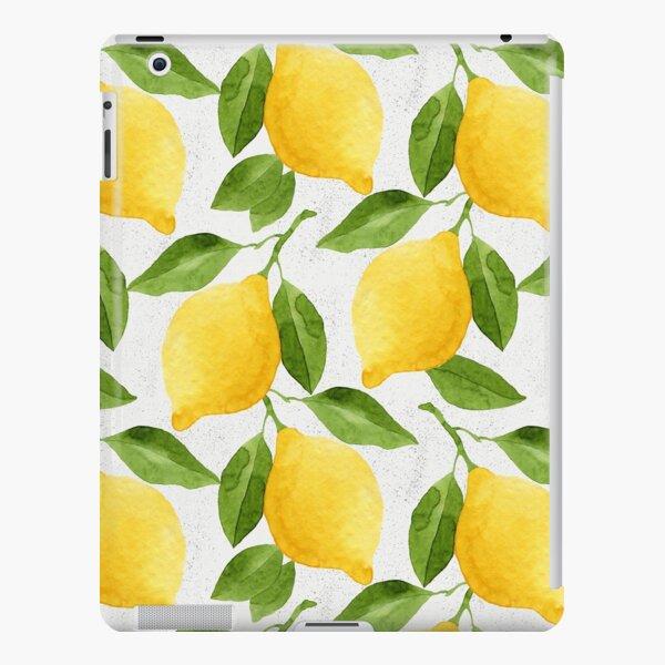 Watercolor Lemon Pattern iPad Snap Case