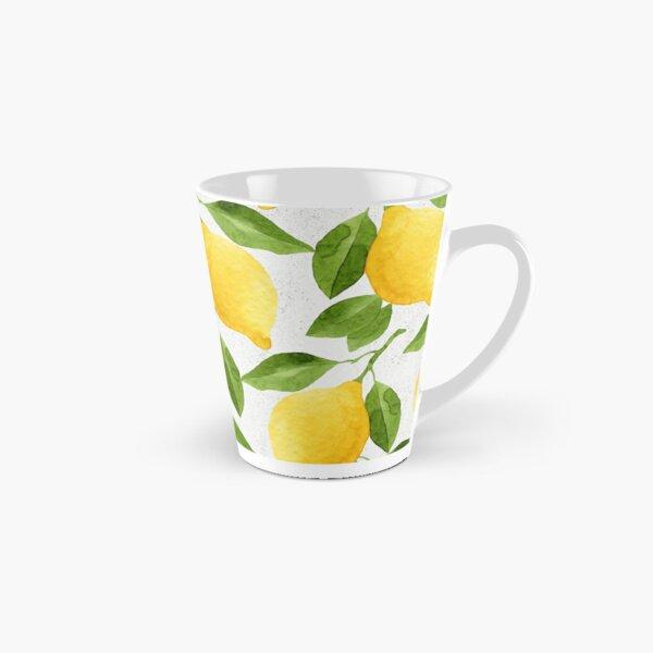 Watercolor Lemon Pattern Tall Mug