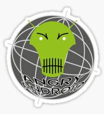 Angry Android Sticker