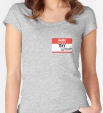 hi, my name is trey vine Women's Fitted Scoop T-Shirt