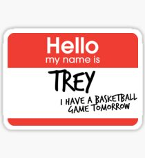 hi, my name is trey vine Sticker