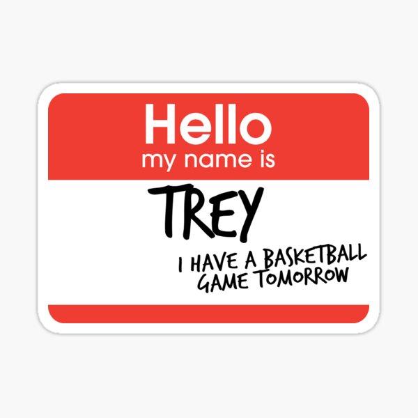 hi, my name is trey vine Sticker