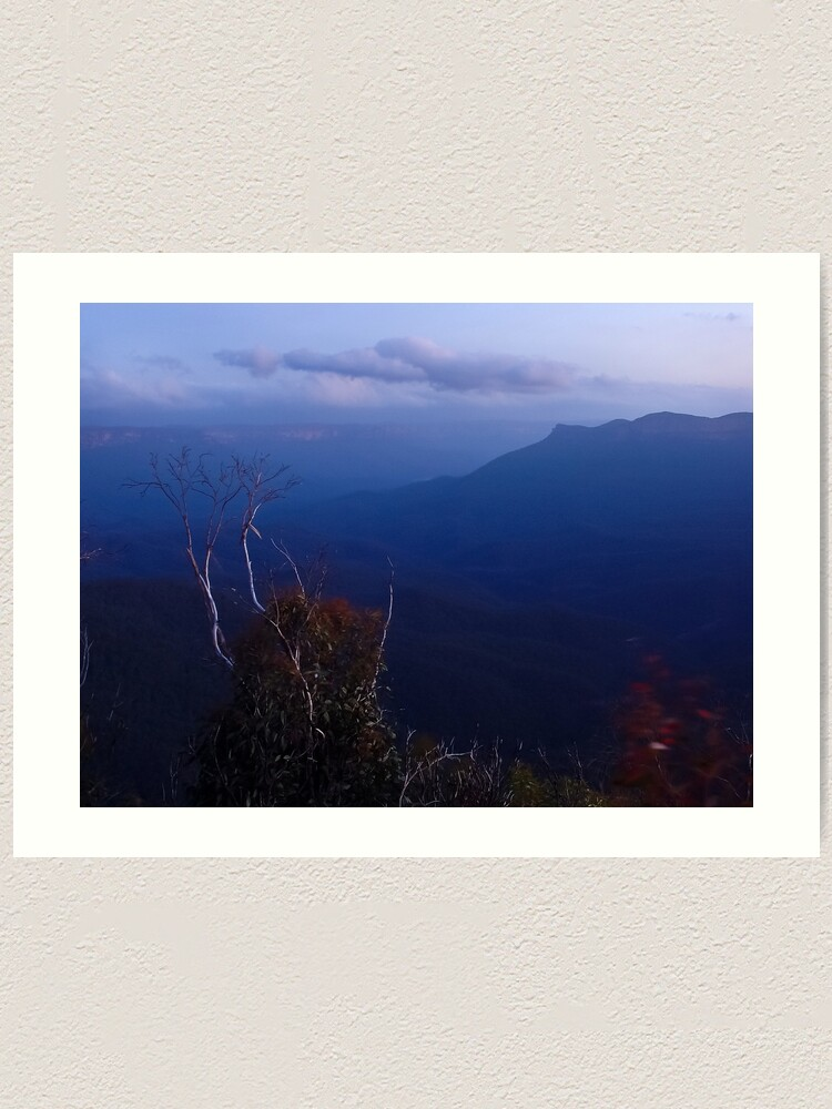 Alternate view of Blue Skies - Blue Mountains NSW Art Print