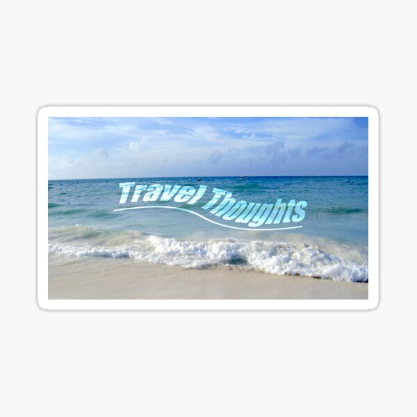 Travel Thoughts' logo Sticker