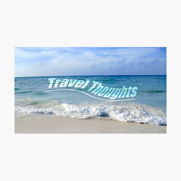 Travel Thoughts' logo Photographic Print