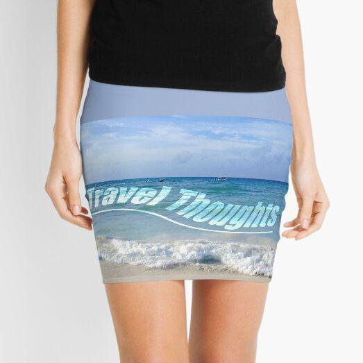 Travel Thoughts' logo Mini Skirt