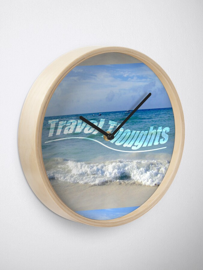 Alternate view of Travel Thoughts' logo Clock