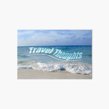 Travel Thoughts' logo Art Board Print