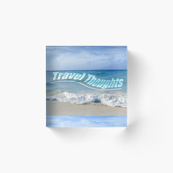 Travel Thoughts' logo Acrylic Block