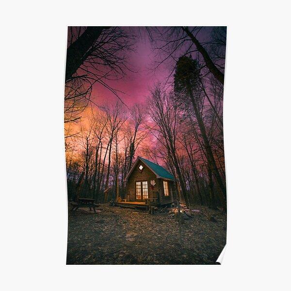 Maple Leaf Cabin Sunsets Poster