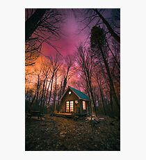 Maple Leaf Cabin Sunsets Photographic Print