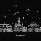 Dresden Skyline Minimal Line Art Poster by A Deniz Akerman