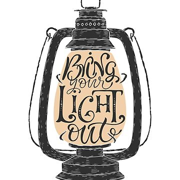 """Bring your light out"" hand drawn typography poster by Umi-ko"